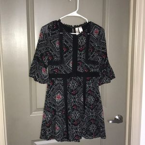 H&M floral and Lace trim Dress